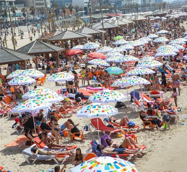 חוף הים ביום הבחירות / צילום: שלומי יוסף