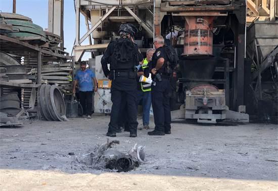 זירת הנפילה באשקלון / צילום: דוברות המשטרה