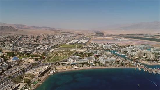 הדמיה של הפארק לאחר הפינוי של שדה התעופה הישן באילת / צילום: יחצ