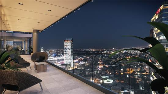 """נוף ממרפסת המגדל. בנייה בסטנדרט גבוה/הדמיה: 3 טרי דה ויז'ן בע""""מ. התמונה להמחשה בלבד"""