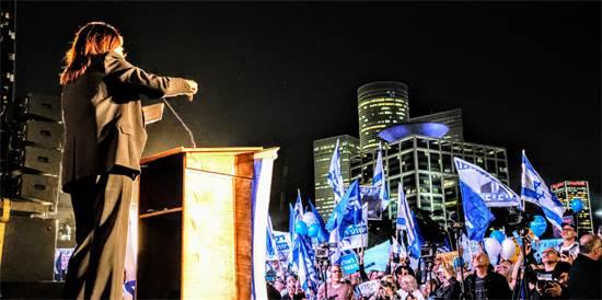 מירי רגב בהפגנה / צילום: שלומי יוסף, גלובס