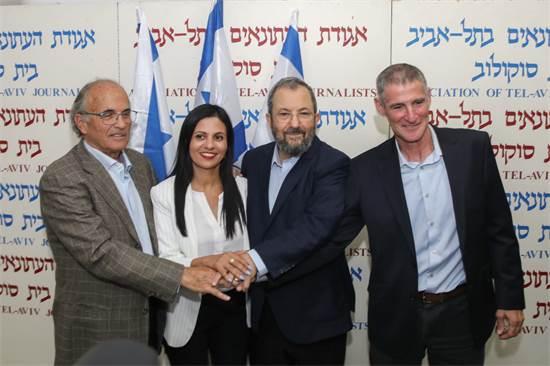 יאיר גולן, אהוד ברק, יפעת ביטון וקובי ריכטר / צילום: כדיה לוי