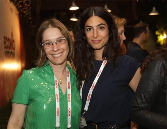 """גילי הייזלר ומו""""ל """"גלובס"""" אלונה בר און באירוע """"ECONOVISION"""" / צילום: שלומי יוסף"""