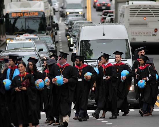 טקס סיום באוניברסיטת הרווארד, השנה / צילום: Gettyimages ישראל