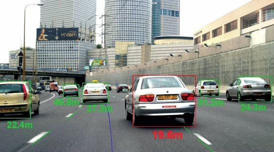 פעילות חיישנים ברכב של מובילאיי / צילום: יחצ
