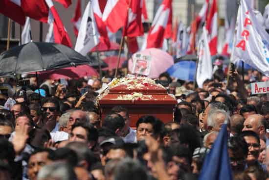 הלוויית הנשיא גרסיה/ צילום: צילום: רויטרס, Guadalupe Pardo