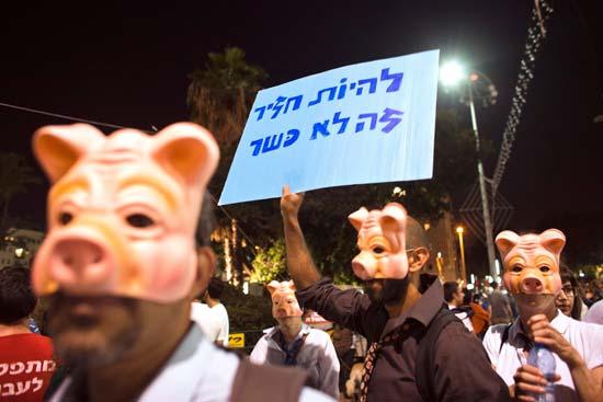 הפגנה בישראל / צילום: רויטרס Amir Cohen