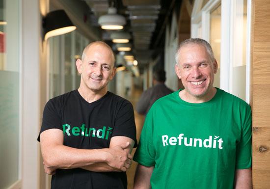 """אורי לוין, מייסד ויו""""ר   זיו תירוש, מייסד ומנכ""""ל , Refundit / צילום: יחצ"""