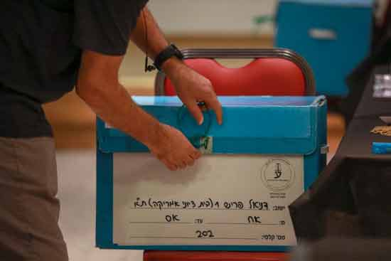 קלפי בתל אביב בחירות לשכת עורכי הדין/  צילום: שלומי יוסף
