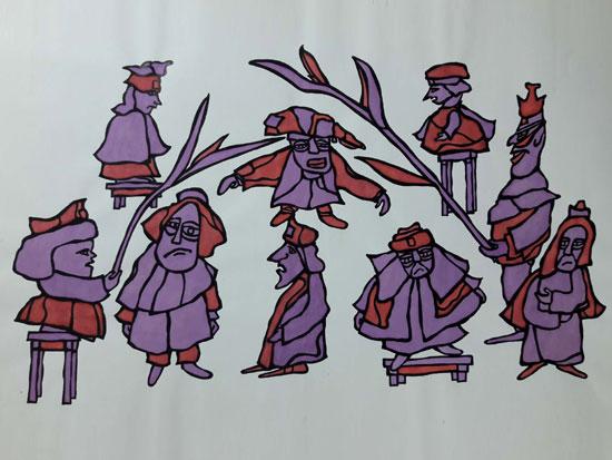 """מתוך התערוכה """"דמויות לא דמויות"""", גלריה קיבוץ לוחמי הגטאות / צילום: יח""""צ"""