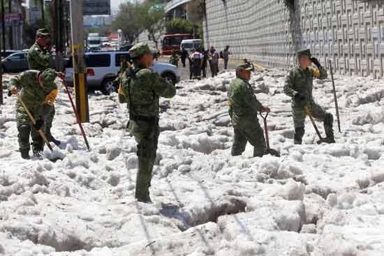 סופת ברד במכסיקו/ צילום: רויטרס