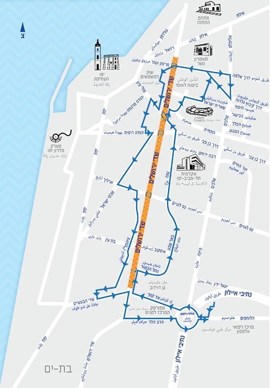 מסלול היפואית בשדרות ירושלים