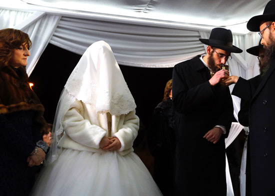 חתונה חרדית דתית / צילום: רויטרס