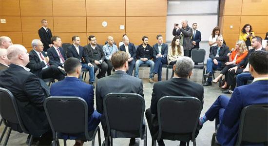 ראש הממשלה בנימין נתניהו במפגש עם סטארט-אפים / צילום: אורי ברקוביץ