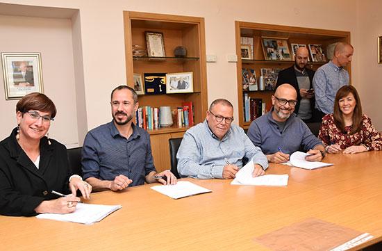 חתימת ההסכם בפרטנר / צילום: דוברות ההסתדרות