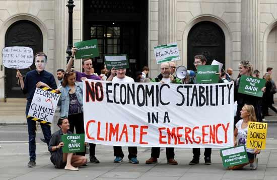 הפגנה של פעילי איכות סביבה בלונדון / צילום: רויטרס
