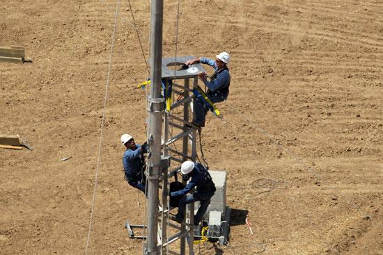 עובדי חברת החשמל / צילום: יוסי וייס חברת החשמל