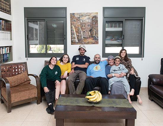 משפחת ליבוביץ, אלוני הבשן / צילום: אייל מרגולין