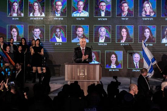 בני גנץ מציג את חוסן לישראל/ צילום: כדיה לוי