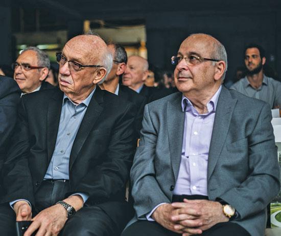 יצחק לוי ואביגדור קפלן / צילום :ניר עמוס