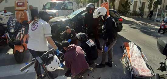 תאונת קורקינט חשמלי בתל אביב / צילום: איחוד הצלה