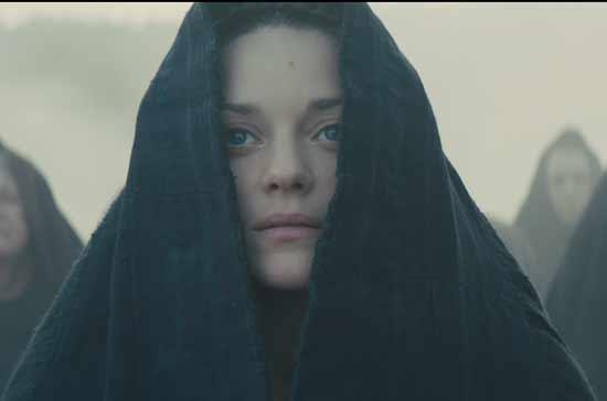 """מריון קוטיאר/   צילום מסך מתוך הסרט """"מקבת'"""""""