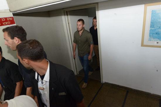אבנר נתניהו היום בבית המשפט / צילום: איל יצהר