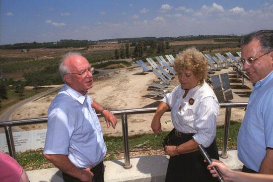 שולמית אלוני ויצחק רבין/ צילום: צביקה ישראל לעמ