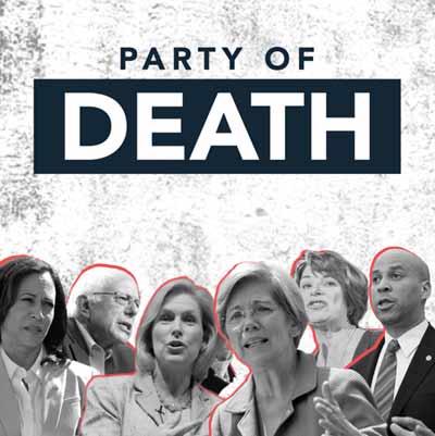 """""""מפלגת המוות"""". מודעה של ארגון המתנגד להפלות  / צילום הכרזה"""