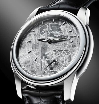 שעון עם לוח מספרים עשוי ממטאוריט / צילום: יחצ