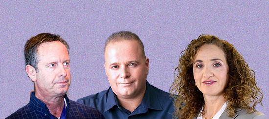 """כהן, גלאם, פינס / צילום (בהתאמה): לע""""מ- חיים צח, מתוך עמוד הפייסבוק, שלומי יוסף"""