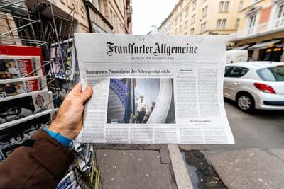 גיליון של FAZ /  צילום:  shutterstock | א.ס.א.פ קריאייטיב
