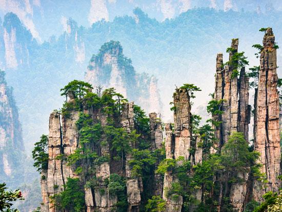 הפארק הלאומי וולינגיואן. יותר מ־3,000 צוקי אבן דקיקים שמזדקרים לשמיים. /  צילום:   Shutterstock | א.ס.א.פ קריאייטיב