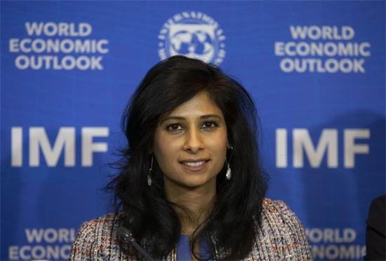 גיטה גופינאת, הכלכלנית הראשית של קרן המטבע הבינלאומית צילום:  AP Esteban Felix
