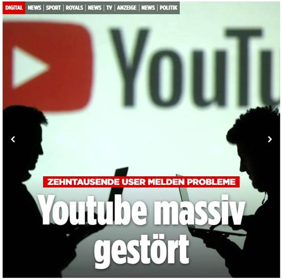 """הכותרת באתר """"בילד"""" הגרמני / צילום: צילום מסך"""