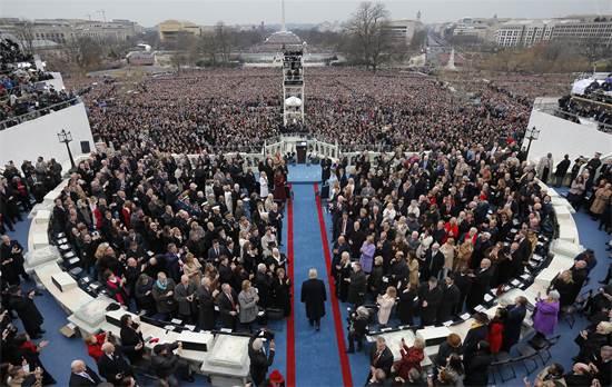 טקס ההשבעה של דונלד טראמפ לנשיאות / צילום: בריאן סניידר, רויטרס