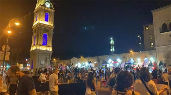 הפגנה נגד נתניהו בכיכר השעון ביפו / צילום: מיכל רז-חיימוביץ, גלובס