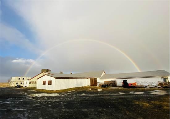 קשת בענן מעל החווה של איתי וקלייר  / צילום: תמונה פרטית