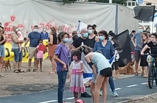 הפגנה נגד נתניהו בכיכר המדינה בתל אביב / צילום: תמונה פרטית