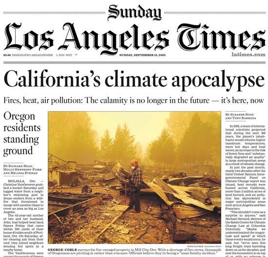 2. ״אני לא חושב שהמדע יודע״, מכריז טראמפ בצפון קליפורניה  (15 בספטמבר)