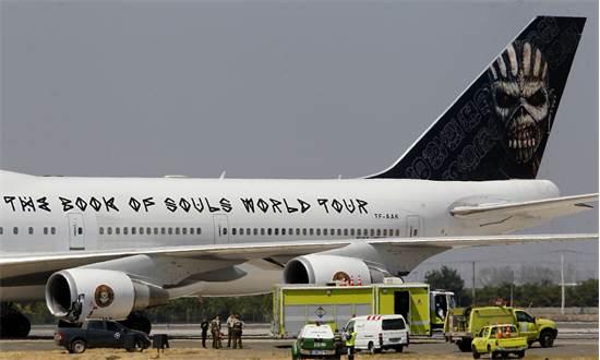 המטוס של איירון מיידן / צילום: Marcelo Hernandez/Aton Chile, AP
