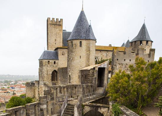 טירת מלון Hotel de la Cite Carcassonne בדרום צרפת / צילום: shutterstock, שאטרסטוק