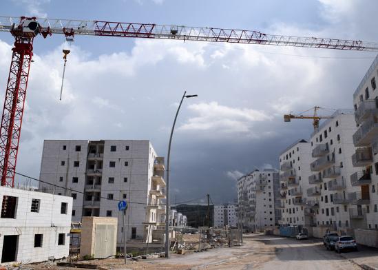 פרויקט בניה של יסודות צור בגבעת אברהם בית שמש / צילום: בר אל