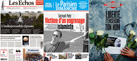 הרצח המחריד בפרבר של פריס השתלט על שערי העיתונים בצרפת בימים האחרונים ומילא עשרות עמודים בתוכם / צילום: צילום מסך