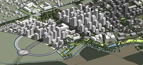 """תכנית """"סירקין מזרח""""  / הדמיה: עמוס ברנדייס אדריכלים"""