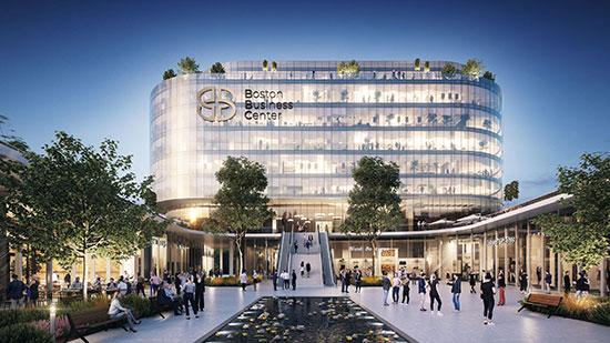 בוסטון ביזנס סנטר במערב ראשון לציון. בפרויקט יושקעו 250 מיליון שקל הדמיה: 3DVision / הדמיה: 3DVision