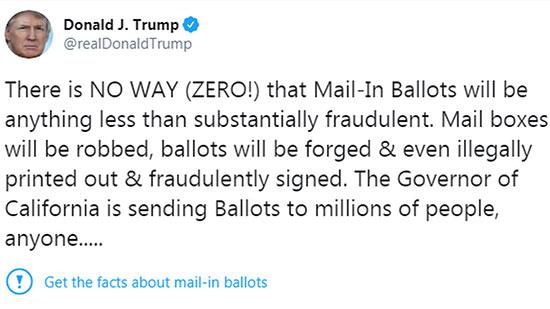 ציוץ של טראמפ עם אפשרות ״לקבל את העובדות״ / צילום: צילום מסך מתוך טוויטר
