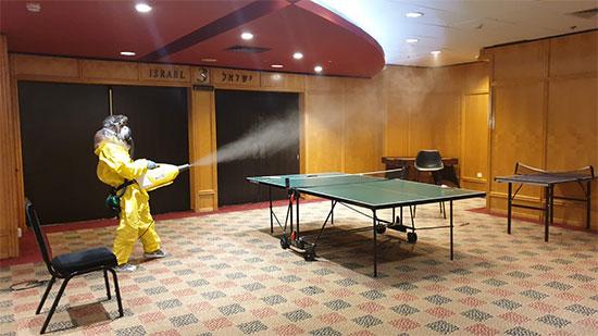 מלון דן פנורמה עובר חיטוי / צילום: דוברות מלונות דן