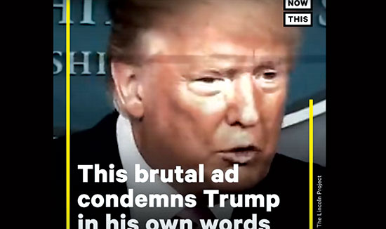 משחקים מול טראמפ במגרש של טראמפ. מתוך קמפיין ביידן / צילום: צילום מסך