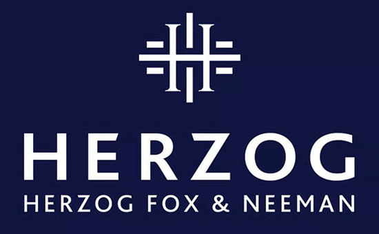 הלוגו החדש של פירמת הרצוג פוקס נאמן